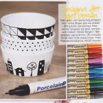 Handmålat porslin från bloggen och porslinspennor från Make & Create