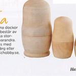 Ryska dockor i trä från Make & Create