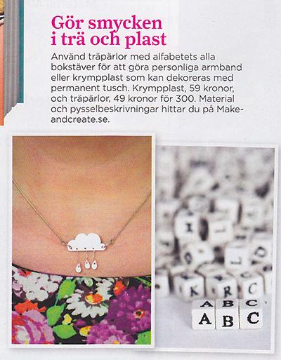 Halsband av krympplast och bokstavspärlor från Make & Create