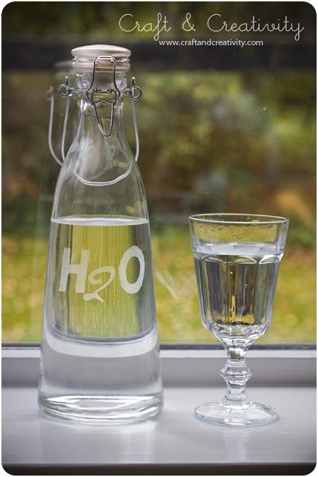 Dagens pyssel, frostat glas u2013 Craft of the Day, frosted glass Craft& Creativity u2013 Pyssel& DIY