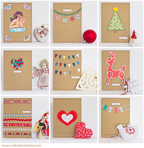 Dagens pyssel 10 julkort craft of the day 10 christmas for Easy diy christmas cards