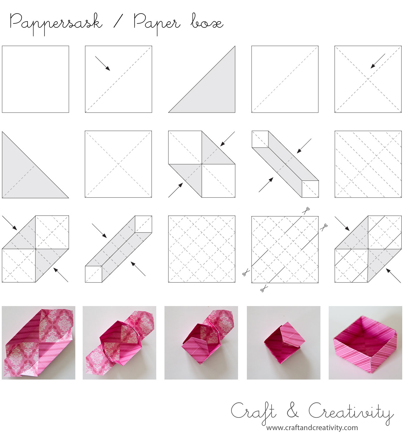 Diy origami paper box diy pinterest for Diy paper origami