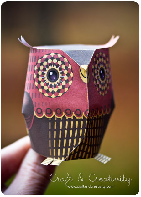craft of the day paper owl craft creativity pyssel diy