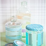 Washi taped glass - by Craft & Creativity
