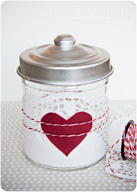 Valentine jar - by Craft & Creativity