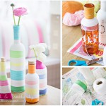 Yarn wrapped bottles - by Craft & Creativity