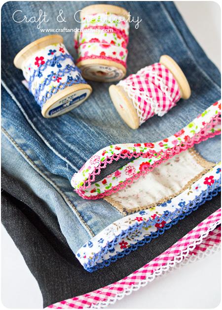Slitna jeans blir till shorts – Turning torn jeans into shorts   Craft & Creativity – Pyssel & DIY