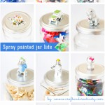 Spray painted jar lids - by Craft & Creativity