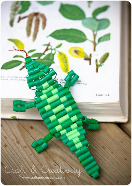 Схема кулона из бисера - как плести из бисера крокодила (2) .