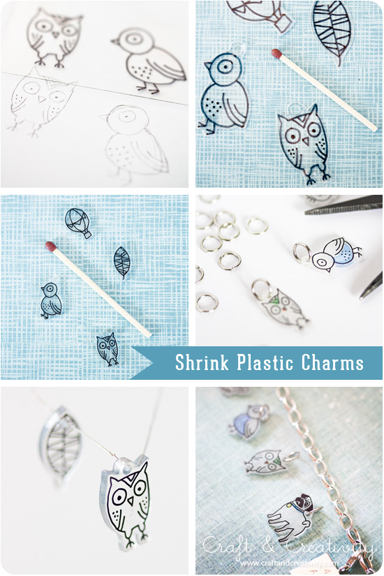 how to make plastic shrink charms