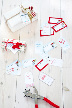 Christmas tags, free download