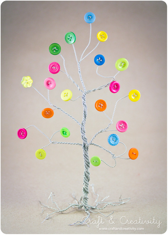 Button tree - by Craft & Creativity