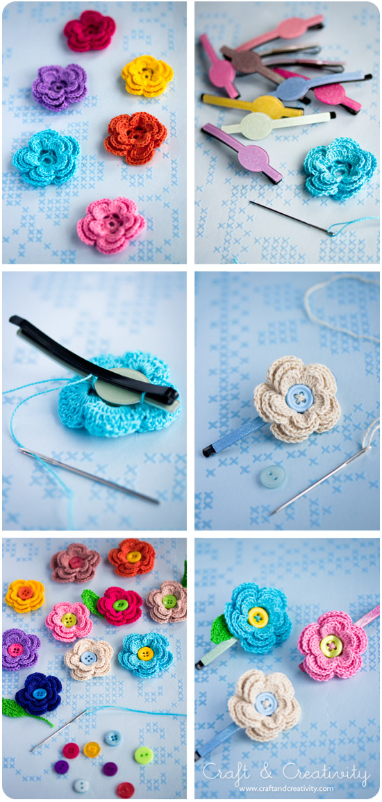 Blossoming Hair Slides by Craft &amp; Creativity