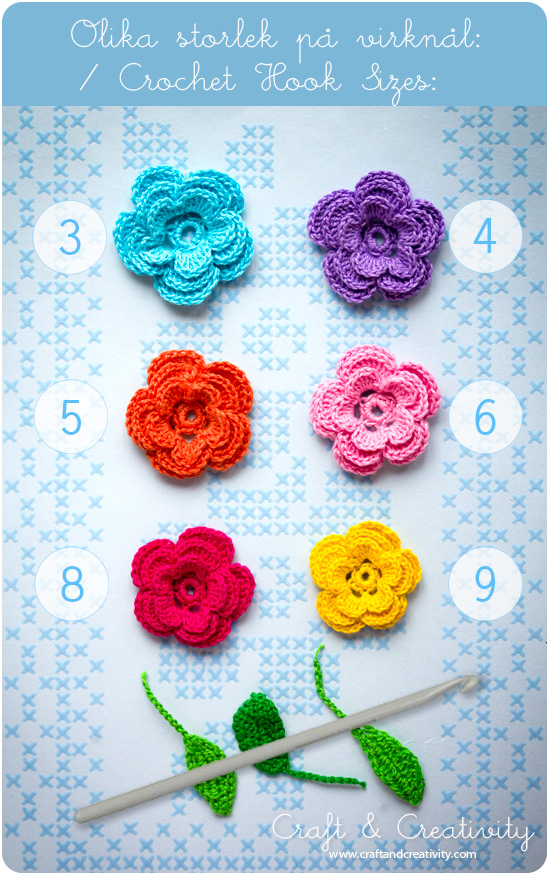 Crochet flowers from Craft &amp; Creativity