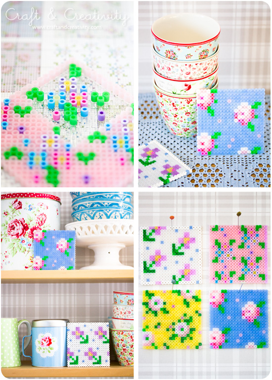 Cross stitch patterns on pegboards - by Craft &amp; Creativity
