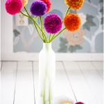 Pom pom flowers - by Craft &amp; Creativity