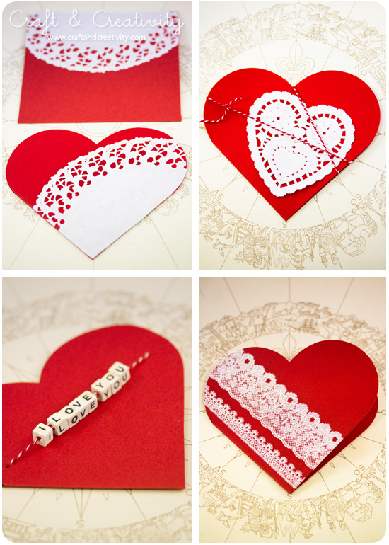 Valentine cards - by Craft &amp; Creativity