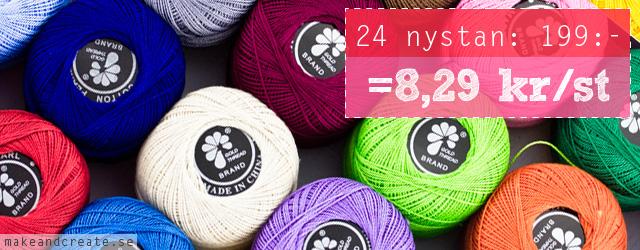 Virkgarn 24-pack - från Make & Create