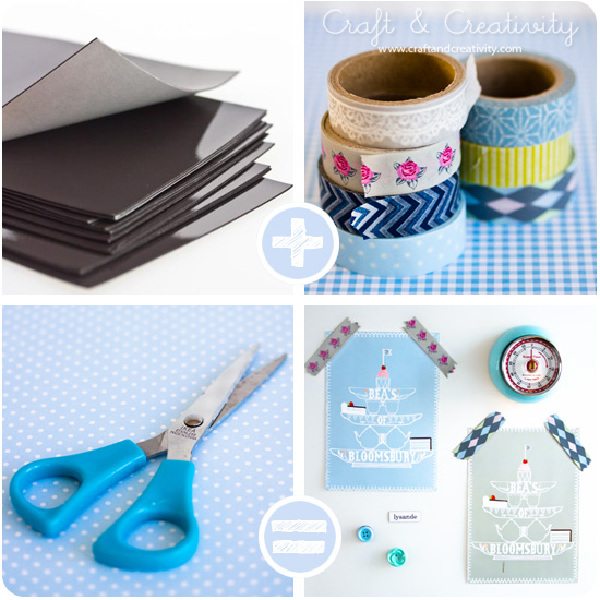 Washi tape magnets - by Craft &amp; Creativity