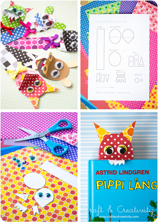 Bookmark template - by Craft & Creativity