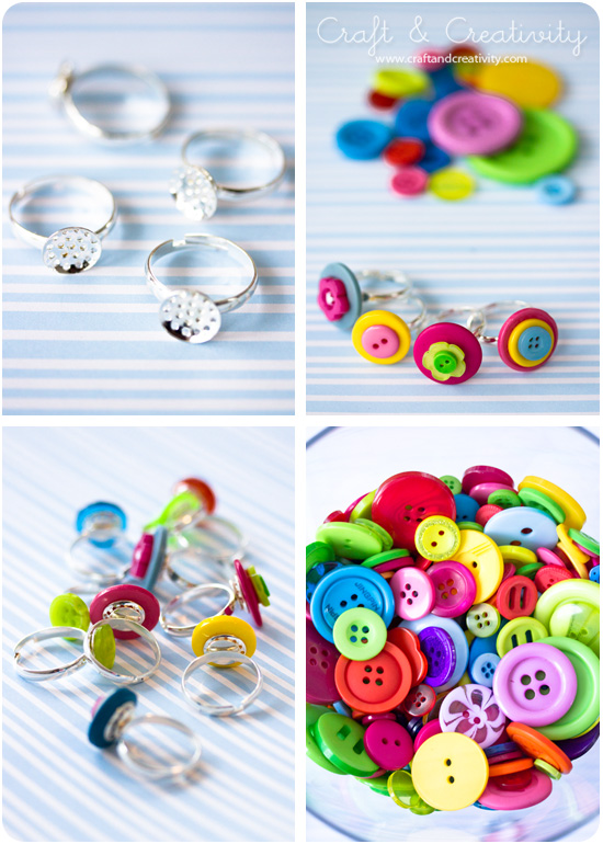 Knappringar / DIY Button rings - Craft & Creativity