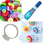 Knappringar / DIY Button rings - Craft &amp; Creativity