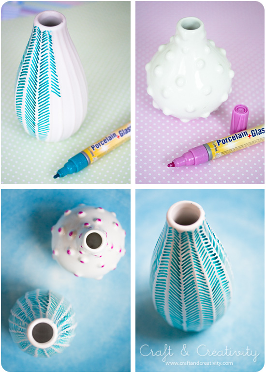 Decorating old vases - by Craft &amp; Creativity