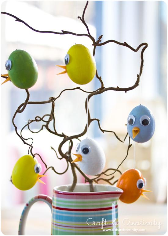 Enkla påskkycklingar - Craft & Creativity