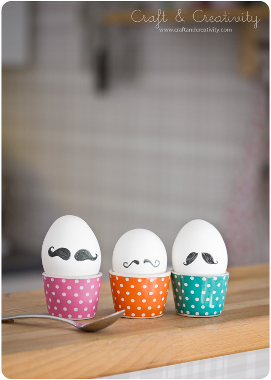 Mustache Eggs - by Craft & Creativity