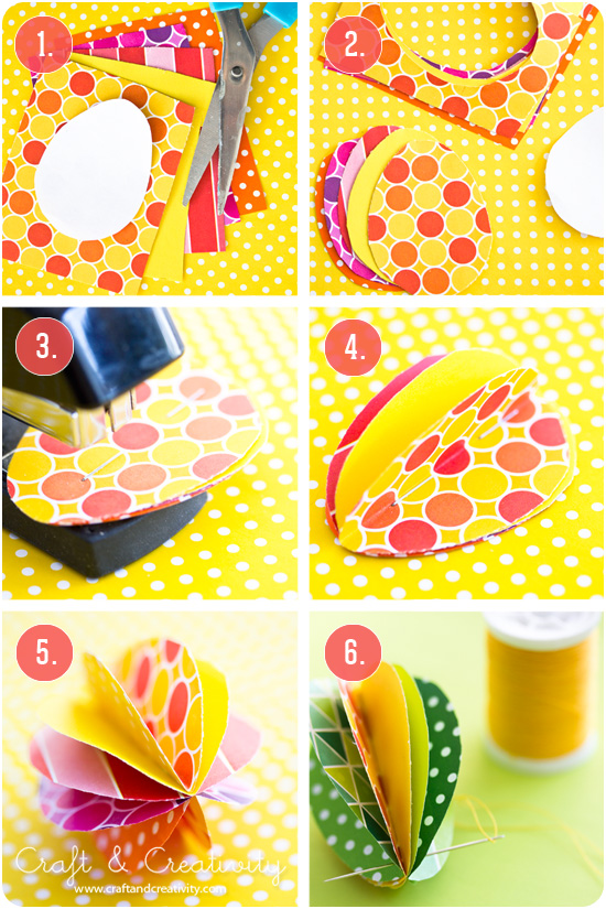 DIY Färgglada pappersägg - Craft & Creativity