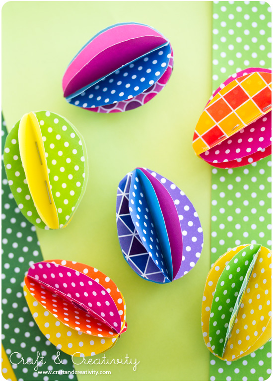 DIY Colorful Paper Eggs - Craft &amp; Creativity