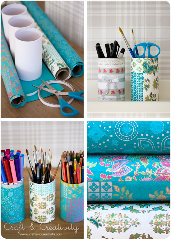 Decorated pen holder - by Craft & Creativity
