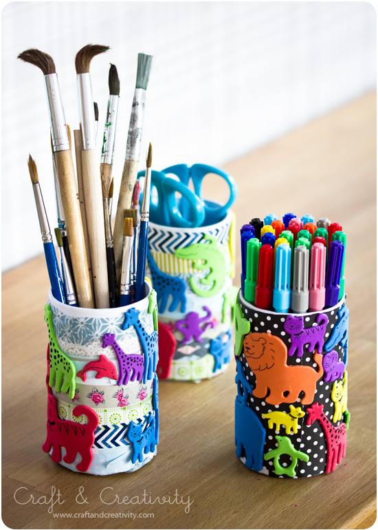 Kid's pen holders - by Craft &amp; Creativity
