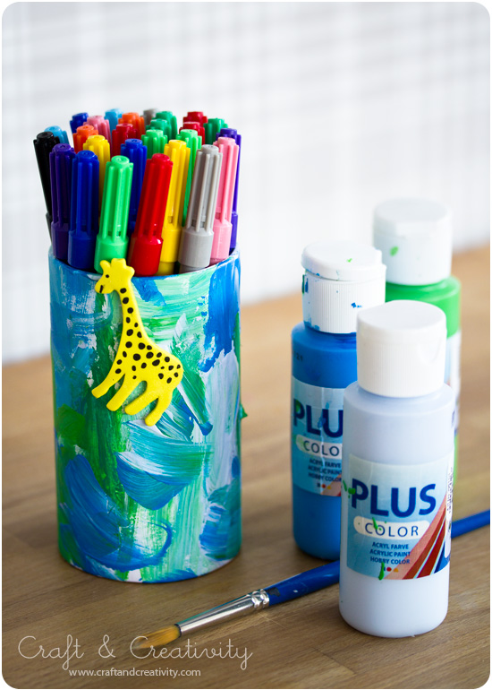Kid's pen holders - by Craft & Creativity