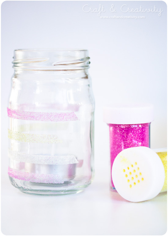 Sparkling tea light holders - by Craft & Creativity