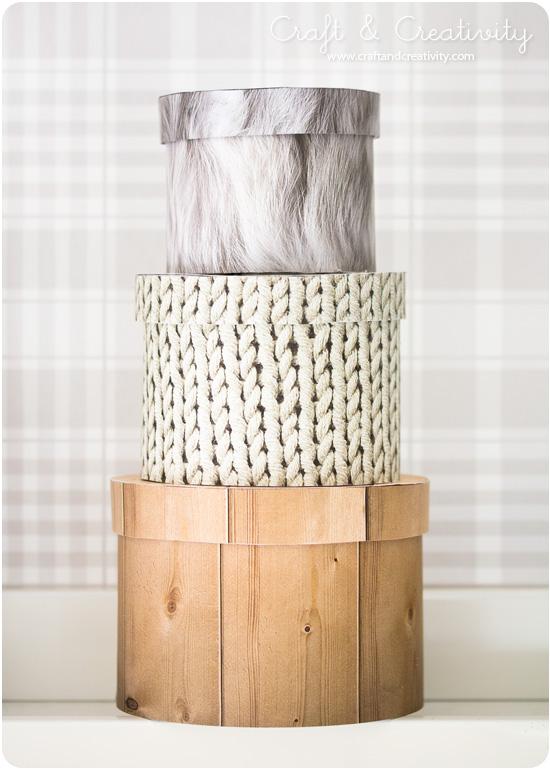 Naturtrogna askar / Natural looking boxes - Craft & Creativity