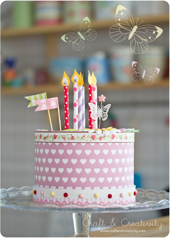 How to make a Paper Cake - by Craft & Creativity