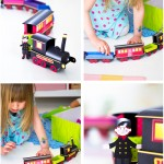 Papperståg / Paper train - Craft & Creativity