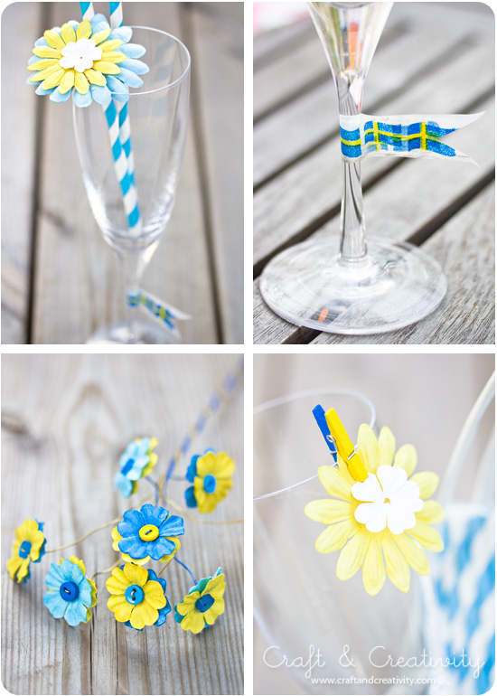 Pretty party decorations - by Craft & Creativity
