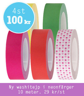 Make & Create - Neonfärgad washitejp