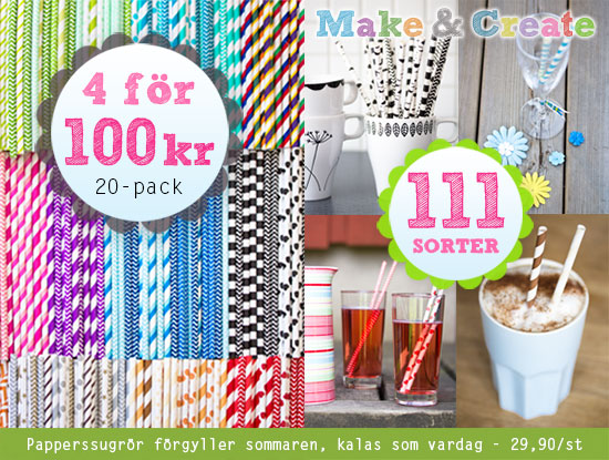Papperssugrör, 4 för 100 kr - Make & Create