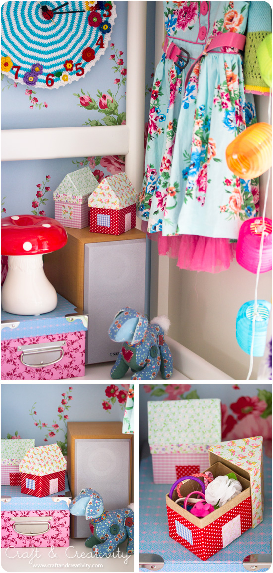 Fabric House Boxes - by Craft & Creativity