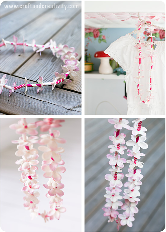 Hawaiian Paper Leis - by Craft & Creativity