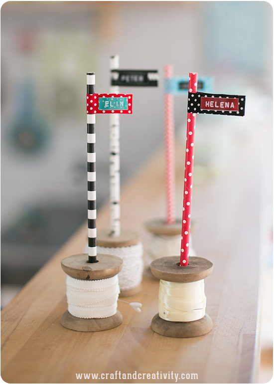 Paper Straw Flags - by Craft & Creativity
