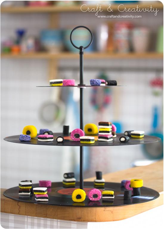 Vinyl Record Cake Stand - by Craft & Creativity