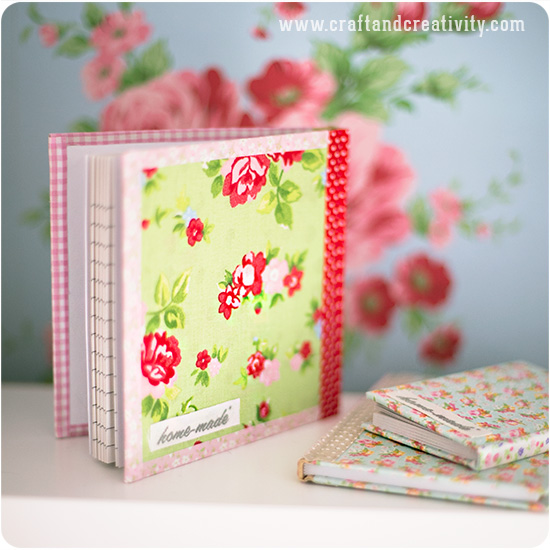 Fabric covered books - by Craft & Creativity