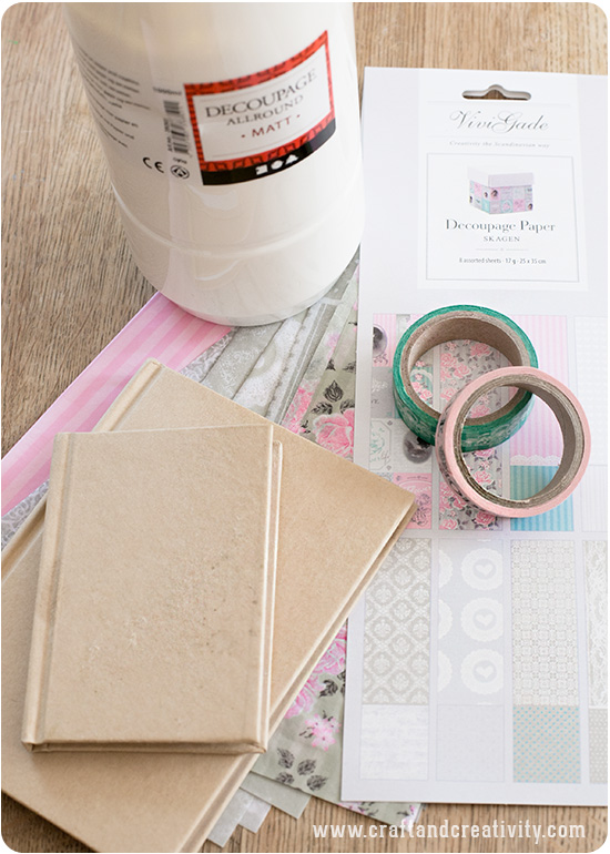 Notebook with decoupage - by Craft & Creativity