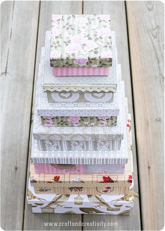 DIY Romantic boxes - by Craft & Creativity
