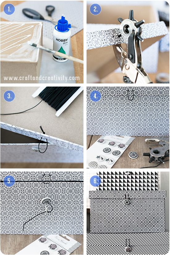 Storage box makeover - by Craft & Creativity