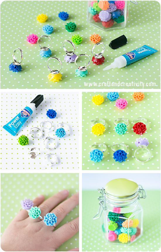 Flower rings - by Craft & Creativity